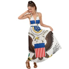 Greater Coat Of Arms Of The United States Backless Maxi Beach Dress