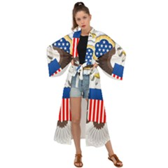 Greater Coat Of Arms Of The United States Maxi Kimono
