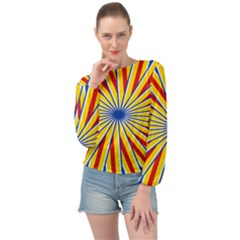 Design 565 Banded Bottom Chiffon Top by impacteesstreetweareight