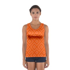 Orange Maze Sport Tank Top