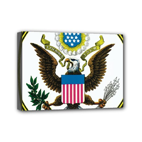 Great Seal Of The United States - Obverse  Mini Canvas 7  X 5  (stretched) by abbeyz71