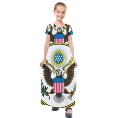 Great Seal Of The United States   Obverse  Kids  Short Sleeve Maxi Dress by abbeyz71