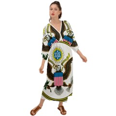 Great Seal Of The United States   Obverse  Grecian Style  Maxi Dress