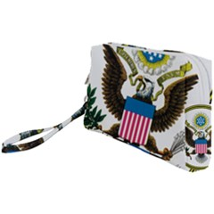 Great Seal Of The United States - Obverse  Wristlet Pouch Bag (small) by abbeyz71