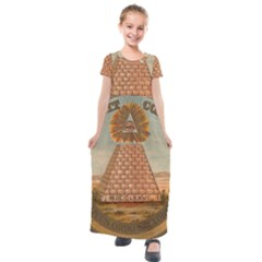 Great Seal Of The United States   Reverse Kids  Short Sleeve Maxi Dress by abbeyz71