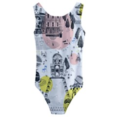 The Park  Pattern Design Kids  Cut-out Back One Piece Swimsuit