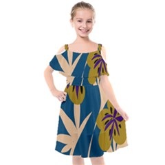 Sahara Street Fleur Ever And Always Kids  Cut Out Shoulders Chiffon Dress by SaharaStreet