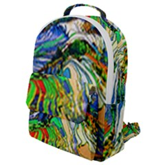 Artistic Nature Painting Flap Pocket Backpack (small)