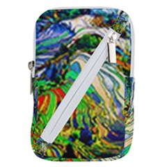 Artistic Nature Painting Belt Pouch Bag (large) by Sudhe