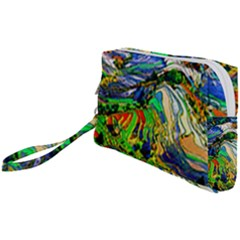 Artistic Nature Painting Wristlet Pouch Bag (small) by Sudhe