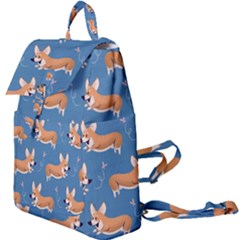 Corgi Patterns Buckle Everyday Backpack by Sudhe