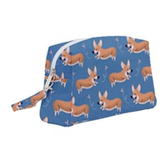 Corgi Patterns Wristlet Pouch Bag (medium) by Sudhe