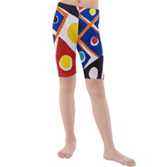 Pattern And Decoration Revisited At The East Side Galleries Kids  Mid Length Swim Shorts
