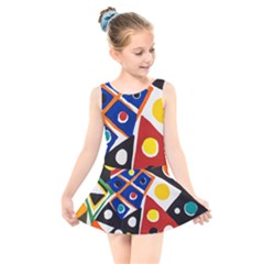 Pattern And Decoration Revisited At The East Side Galleries Kids  Skater Dress Swimsuit