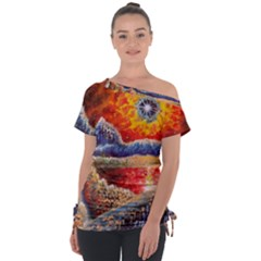 Sci Fi  Landscape Painting Tie Up Tee
