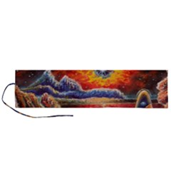 Sci Fi  Landscape Painting Roll Up Canvas Pencil Holder (l)