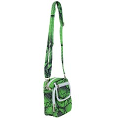 Binary Digitization Null Green Shoulder Strap Belt Bag