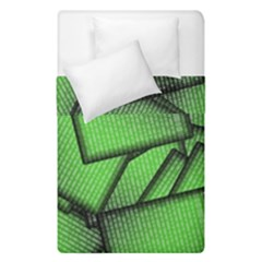 Binary Digitization Null Green Duvet Cover Double Side (single Size)