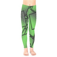 Binary Digitization Null Green Kids  Legging
