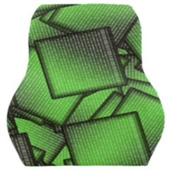 Binary Digitization Null Green Car Seat Back Cushion