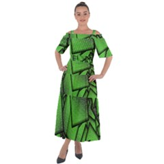Binary Digitization Null Green Shoulder Straps Boho Maxi Dress  by HermanTelo