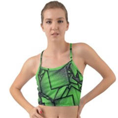 Binary Digitization Null Green Mini Tank Bikini Top