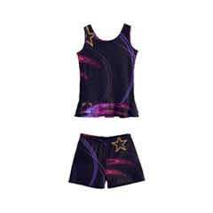 Background Abstract Star Kids  Boyleg Swimsuit