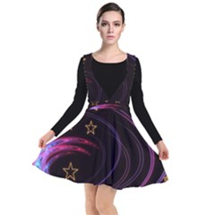 Background Abstract Star Plunge Pinafore Dress