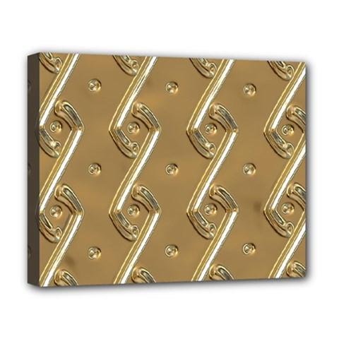 Gold Background 3d Deluxe Canvas 20  X 16  (stretched)