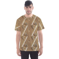 Gold Background 3d Men s Sports Mesh Tee