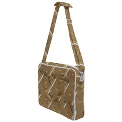 Gold Background 3d Cross Body Office Bag