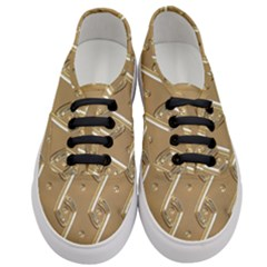 Gold Background 3d Women s Classic Low Top Sneakers
