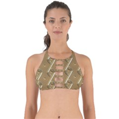 Gold Background 3d Perfectly Cut Out Bikini Top