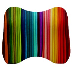 Colorful-57 Velour Head Support Cushion by ArtworkByPatrick