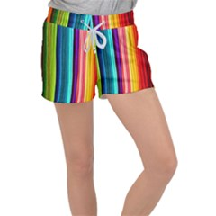 Colorful-57 Women s Velour Lounge Shorts by ArtworkByPatrick