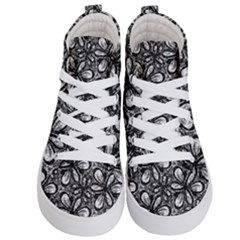 Fabric Pattern Sunflower Kids  Hi Top Skate Sneakers
