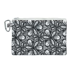 Fabric Pattern Sunflower Canvas Cosmetic Bag (large)