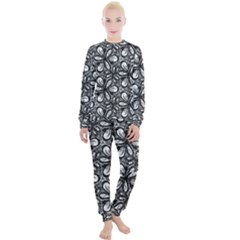 Fabric Pattern Sunflower Women s Lounge Set