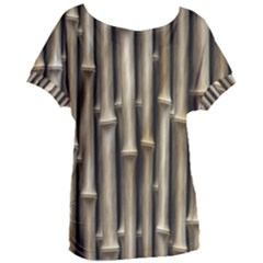 Bamboo Grass Women s Oversized Tee