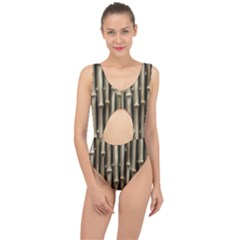 Bamboo Grass Center Cut Out Swimsuit