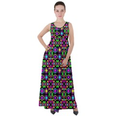 Colorful 58 Empire Waist Velour Maxi Dress