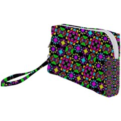 Colorful 58 Wristlet Pouch Bag (small) by ArtworkByPatrick