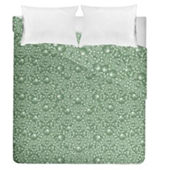 Baroque Green Pearls Ornate Bohemian Duvet Cover Double Side (queen Size)