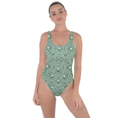 Baroque Green Pearls Ornate Bohemian Bring Sexy Back Swimsuit by pepitasart
