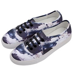 Space Whale Women s Classic Low Top Sneakers by goljakoff