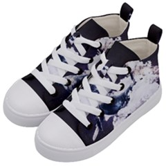 Space Whale Kids  Mid Top Canvas Sneakers by goljakoff