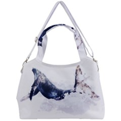 Blue Whale Double Compartment Shoulder Bag by goljakoff