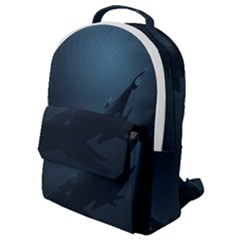 Whales Family Flap Pocket Backpack (small) by goljakoff