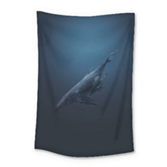 Blue Whales Small Tapestry by goljakoff