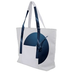 Whales Family Zip Up Canvas Bag by goljakoff